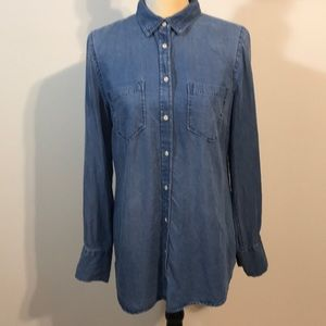 Merona Lyocell Denim Button Down Shirt